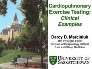 Cardiopulmonary  Exercise Testing:  Clinical Examples Darcy D. Marciniuk MD, FRCP(C), FCCP