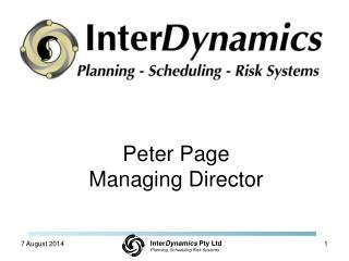 Peter Page Managing Director