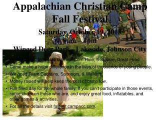 Appalachian Christian Camp Fall Festival