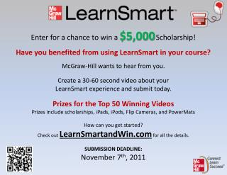 Enter for a chance to win a  $5,000 Scholarship!