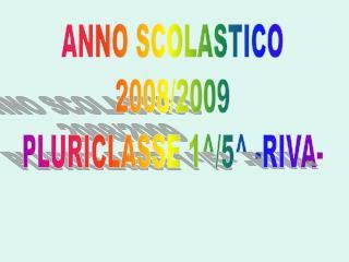 ANNO SCOLASTICO 2008/2009 PLURICLASSE 1^/5^ -RIVA-