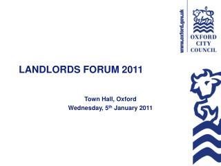 LANDLORDS FORUM 2011
