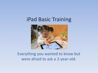 iPad Basic Training