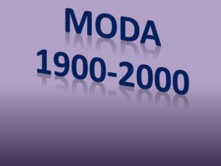 Moda 1900-2000