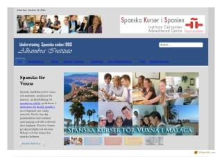 Spanska kurser f??r vuxna | Spr??kstudier i Spanien | Spanska