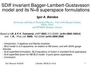 SDiff invariant Bagger-Lambert-Gustavsson