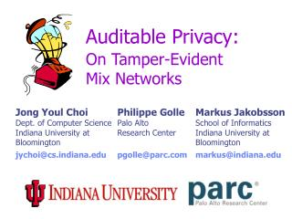 Auditable Privacy: