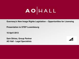 Guernsey's New Image Rights Legislation – Opportunities for Licensing