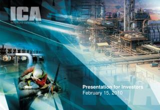 Presentation for Investors February 15, 2010