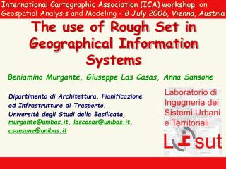 The use of Rough Set in Geographical Information Systems