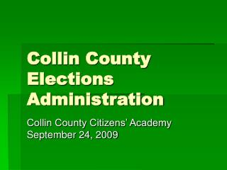 Collin County Elections Administration