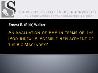 An Evaluation of PPP in terms of The iPod Index: A Possible Replacement of the Big Mac Index?