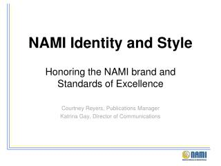 NAMI Identity and Style