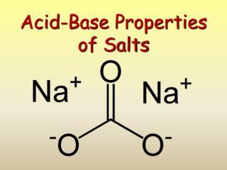 Acid-Base Properties  of Salts