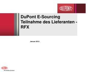DuPont E-Sourcing  Teilnahme des Lieferanten - RFX
