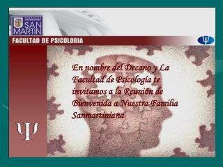 FUNDACIÓN UNIVERSITARIA SAN MARTIN FACULTAD DE PSICOLOGÍA