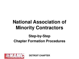 National Association of  Minority Contractors