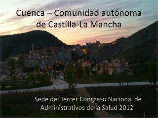 Sede del Tercer Congreso Nacional de Administrativos de la Salud 2012