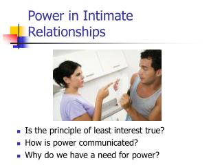 Power in Intimate Relationships