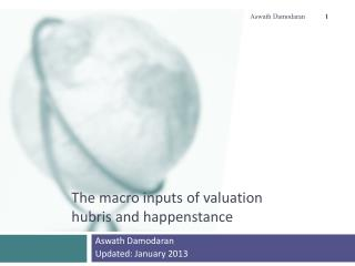 The macro inputs of valuation hubris and happenstance