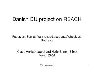 Overall project goal