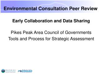 Environmental Consultation Peer Review