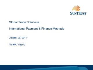 Global Trade Solutions International Payment & Finance Methods
