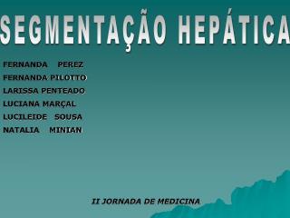 SEGMENTAÇÃO HEPÁTICA