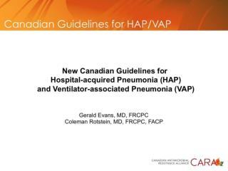 Treatment Guidelines HAP VAP