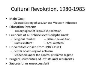 Cultural Revolution, 1980-1983