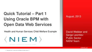 Quick Tutorial – Part 1 Using Oracle BPM with Open Data Web Services