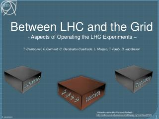 Between LHC and the Grid  - Aspects of Operating the LHC Experiments –
