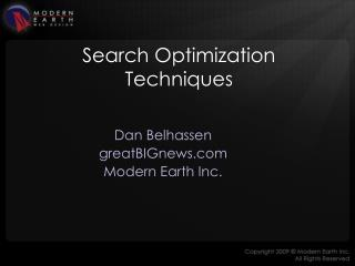 Search Optimization Techniques