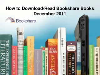 How to Download/Read Bookshare Books December 2011