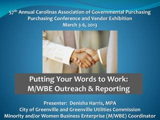 57 th  Annual Carolinas Association of Governmental Purchasing