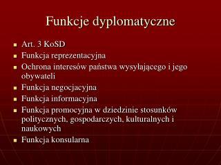 Funkcje dyplomatyczne