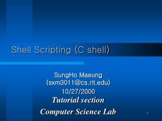 Shell Scripting (C shell)