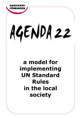 a model for implementing  UN Standard Rules  in the local society