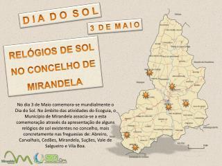 RELÓGIOS DE SOL  NO CONCELHO DE MIRANDELA