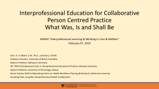 Working in partnership: social work students  experience of inter-professional education and practice