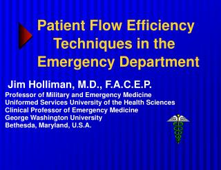 Patient Flow Efficiency     Techniques in the Emergency Department