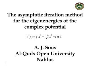 The asymptotic iteration method for the eigenenergies of the complex potential