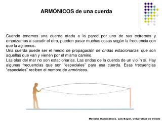 ARMÓNICOS de una cuerda