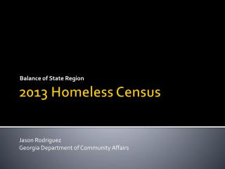 2013 Homeless Census