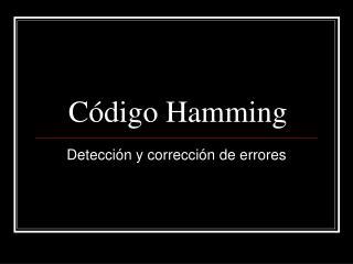 Código Hamming