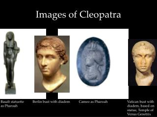Images of Cleopatra