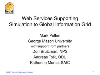 Web Services Supporting Simulation to Global Information Grid