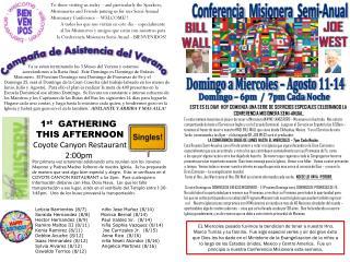 Conferencia Misionera   Semi- Anual