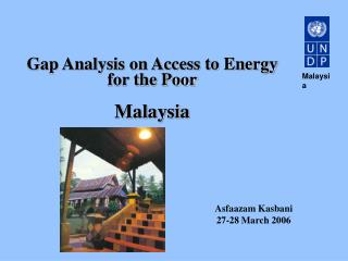 Gap Analysis on Access to Energy for the Poor  Malaysia