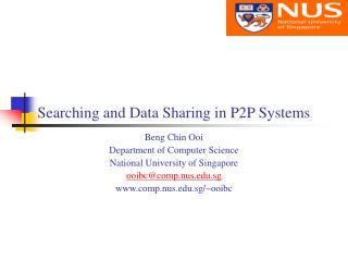 Searching and Data Sharing in P2P Systems